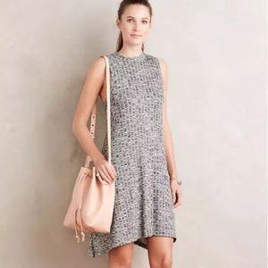 Anthropologie Maeve Emerson Grey Swing Dress S